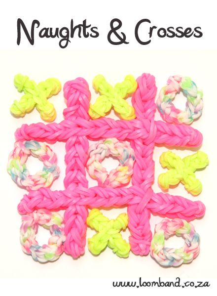 Naughts & Crosses Loom Band Game Tutorial, instructions and videos on hundreds of loom band designs. Shop online for all your looming supplies, delivery anywhere in SA.