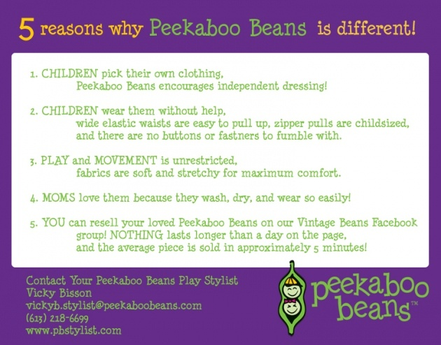 5 reasons why Peekaboo Beans is different from other children's clothing brands.