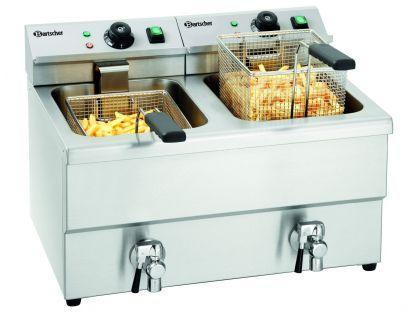 FRITEUSE ÉLECTRIQUE PROFESSIONNELLE BARTSCHER IMBISS II 2 X 8 L