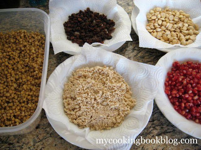 Ingredients for making the Koliva.