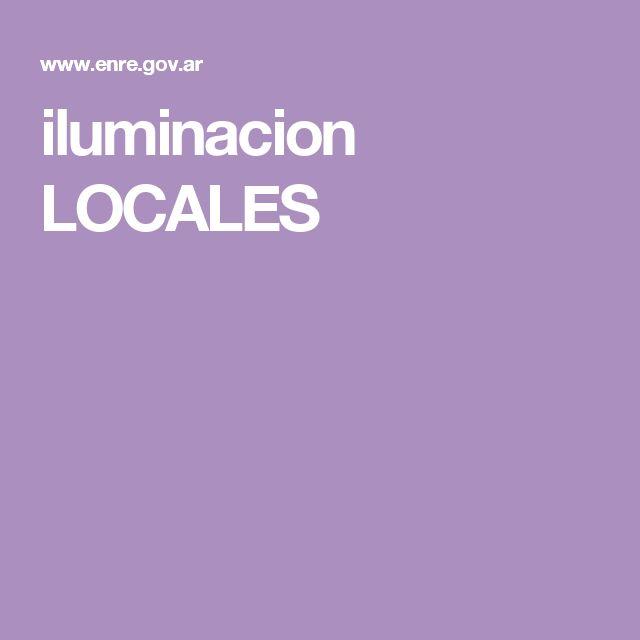 iluminacion LOCALES