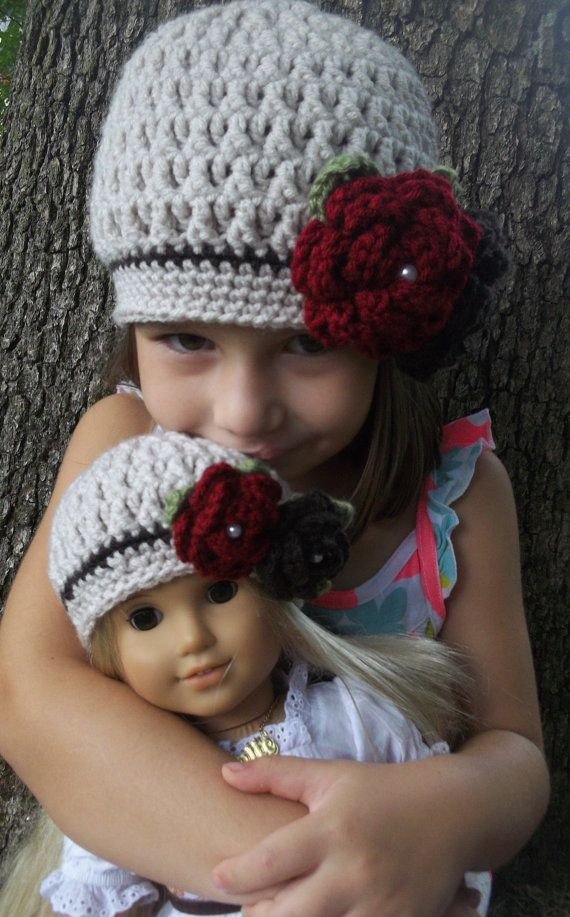 Matching American Girl Doll and Girl Crocheted Linen by Oliviella, $35.00