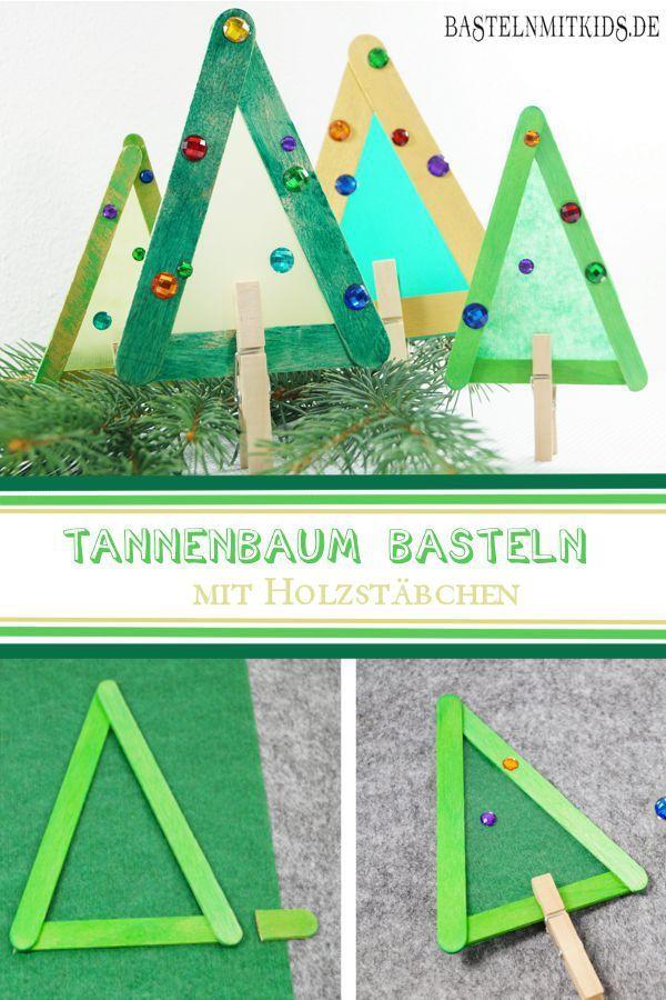 Tannenbaum basteln mit Kindern und Kleinkindern