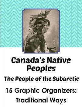 Canada's Native Peoples of the Subarctic:15 Graphic Organi