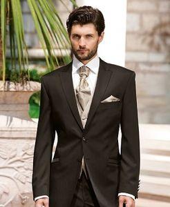 Brown wedding suit