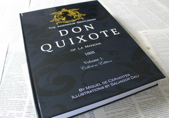 Don Quixote book with x12 beautiful works from Salvador Dali