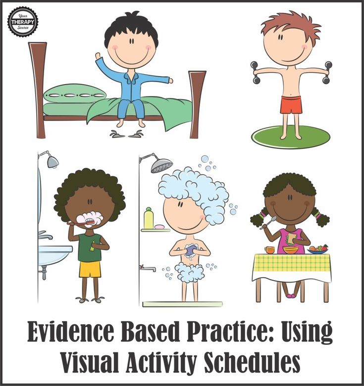 Evidence Based Practice - Using VIsual Activity Schedules for Children with Autism from Your Therapy Source. Pinned by SOS Inc. Resources. Follow all our boards at pinterest.com/sostherapy/ for therapy resources.