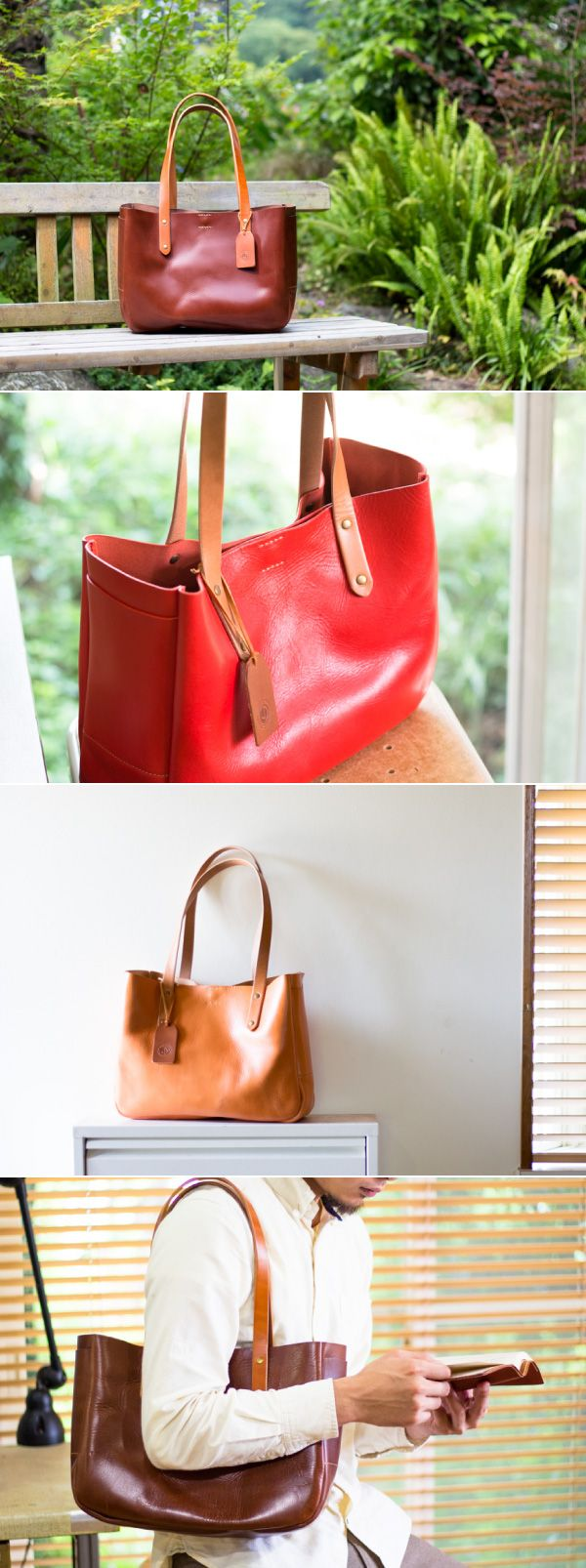 leather tote bag | Duram Factory