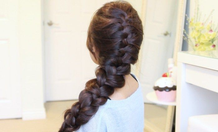 Elsa's French Braid Hairstyle from Disney's Frozen · Bebexo Hairstyles & Beauty Blog