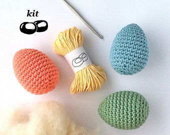 Crochet Kit / DIY Kit Crochet Fruit / Crochet by LittleConkers