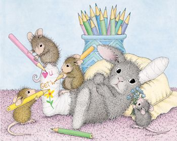 """""""Mudpie, Amanda, Muzzy and Monica"""" from House-Mouse Designs®"""