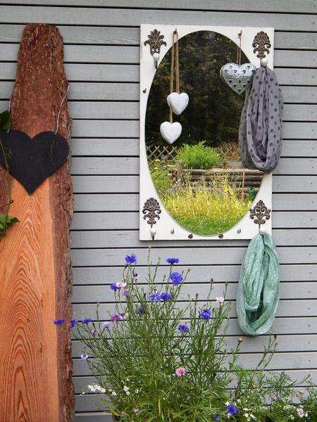 Spiegel-Garderobe antik 12 Haken, Shabby Chic von lamemo  auf DaWanda.com