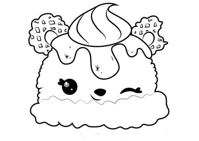 Ice Cream Coloring Page Coloring Pages Hellocoloring Com Ice