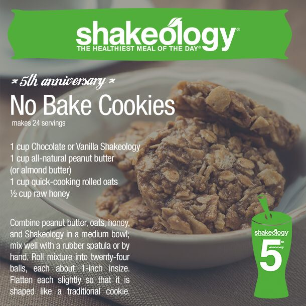 Did you know you can make more than just shakes with Shakeology®? From pies to bars to fudge pops, check out all the yummy treats you can make with Shakeology: https://www.facebook.com/media/set/?set=a.1015217653 6485182.929221.191306845181&type=3 Try this great no bake cookies recipe.... http://myshakeology.com/PForceFitness