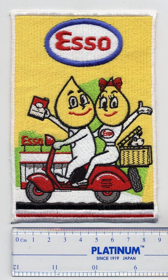 Vintage ESSO Scooter Patch or MOD ESSO Vespa by smARTpatches