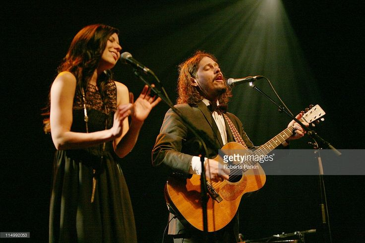 Joy Williams and John Paul White of Civil Wars supporting James Vincent McMorrow, perform on stage at the Queen Elizabeth Hall on May 31, 2011 in London, United Kingdom.