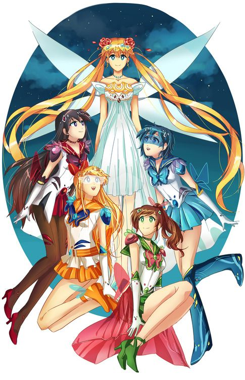 Girl Scouts Neo: 576 Best Sailor Moon Groups Artwork Images On Pinterest