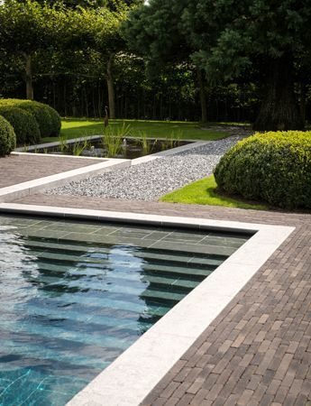 Swimming Pool Ideas Pool with Vande Moortel Septima Colosseum Clay paver