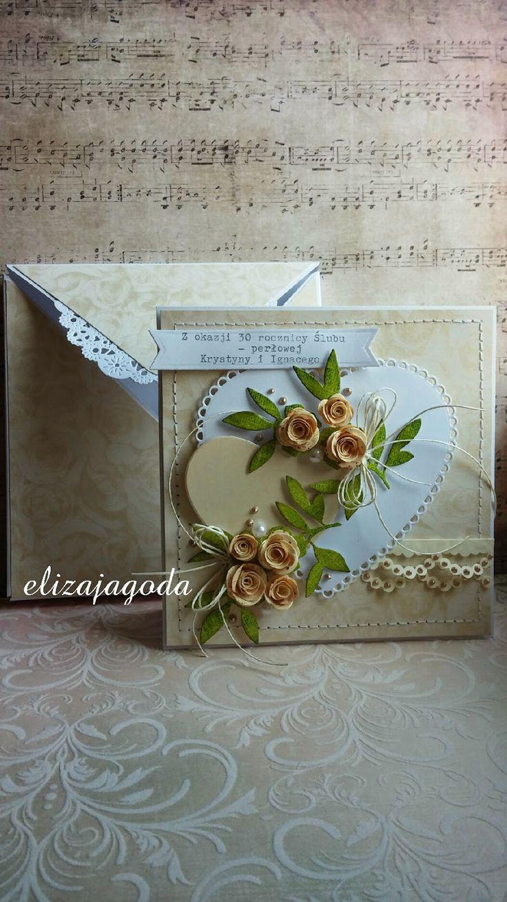 Kartka z pudełką - 30 rocznicy ślubu