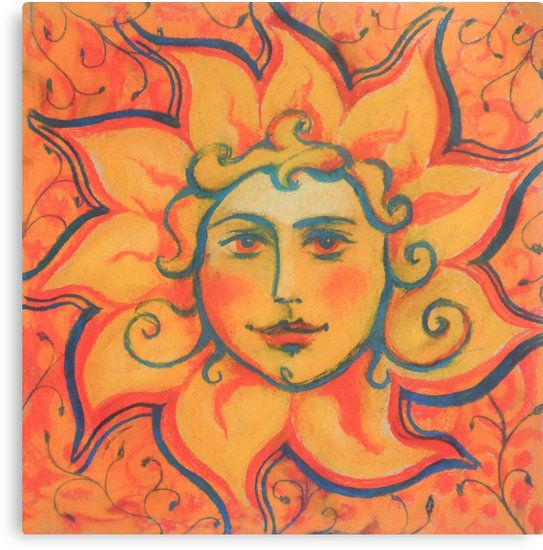 """The Sun"" by clipsocallipso#sun, #face, #sunface, #orange, #celestial, #sol, #invictus, #folklore, #folkart, #decorative, #fairytale, #art, #painting, #drawing, #red,  #solstice, #midsummer, #Gerovit, #slavic, #pastel, #pastels, #soft, #colorful, #pagan, #ornated, #russian, #style, #illustration, #summer, #spring, #golden, #smiling, #fantasy, #mythology, #burning, #shining, #yellow, #saturated, #vibrant, #artwork"