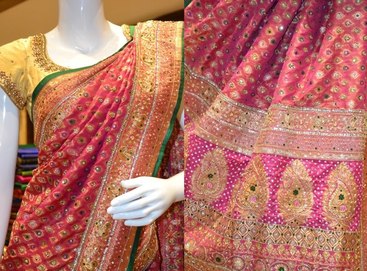 Just unveiled: A bridal designer saree exclusively crafted for Pothys.
