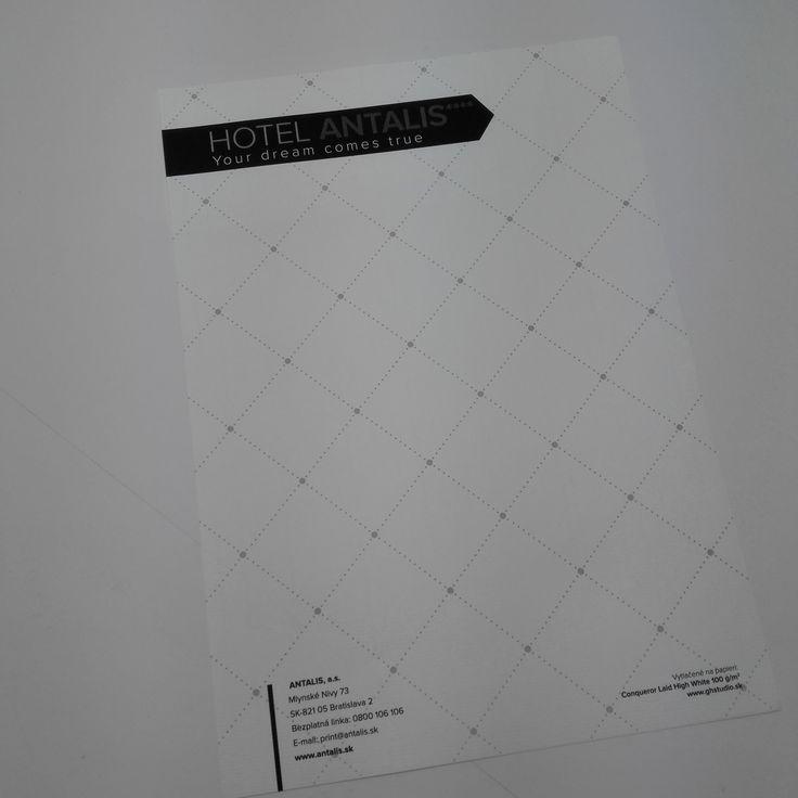 Hlavičkový papier - Hotelová zložka ANTALIS