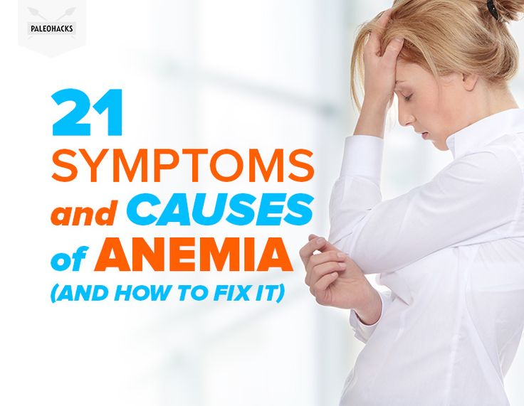 Do you feel sluggish and weak and struggle to get through your day? Here are 21 common symptoms and causes of anemia and how to fix it. Read the full article here: http://paleo.co/AnemiaSigns #paleohacks #paleo