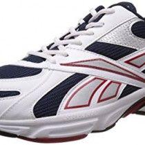 Reebok Men's Acciomax III Lp White and Navy Mesh Running Shoes  - 8 UK