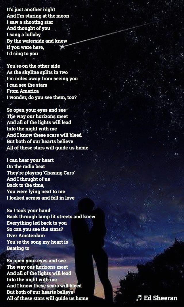 Open Your Eyes And Really See Stars >> All Of The Stars Lyrics Ed Sheeran Multiply Album Edsheeran