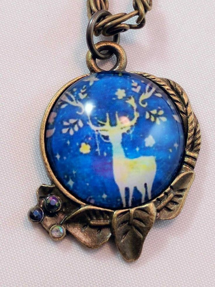 Bronze Stag Necklace