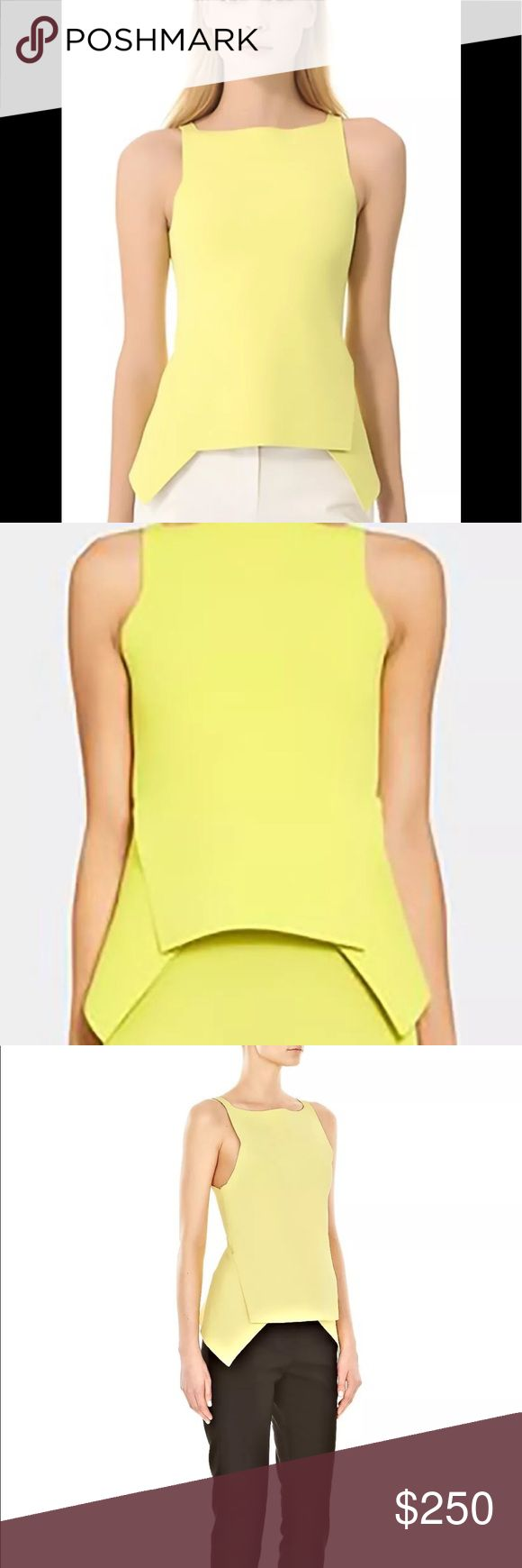 Alexander Wang  Top - Yellow Double-Faced size  M Alexander Wang Yellow Cropped Peplum Top used for a photo shoot only.  Crafted from supportive yet flexible double-faced stretch-jersey, Alexander Wang's chartreuse top is a cool way to work the peplum silhouette. Let the bold hue pop against black jeans, shorts or pencil skirts for instant style points! 