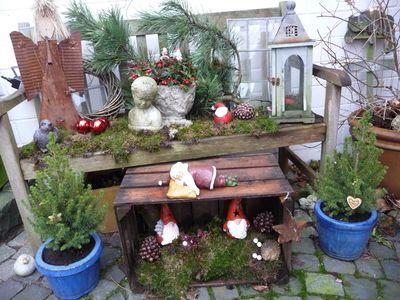 wozu eine alte weinkiste alles gut ist wohnen und garten foto - Weihnachtsdeko Garten Ideen