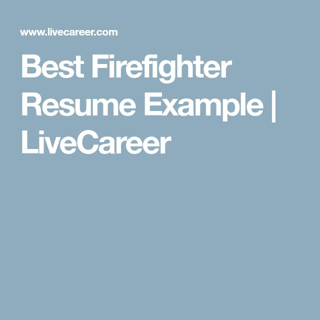 The 25+ best Firefighter resume ideas on Pinterest Sample emt - live career resume builder phone number