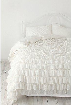 Want...Decor, Guest Room, Urbanoutfitters, Urban Outfitters, Dreams, White Beds, Duvet Covers, Bedrooms, Ruffles Duvet