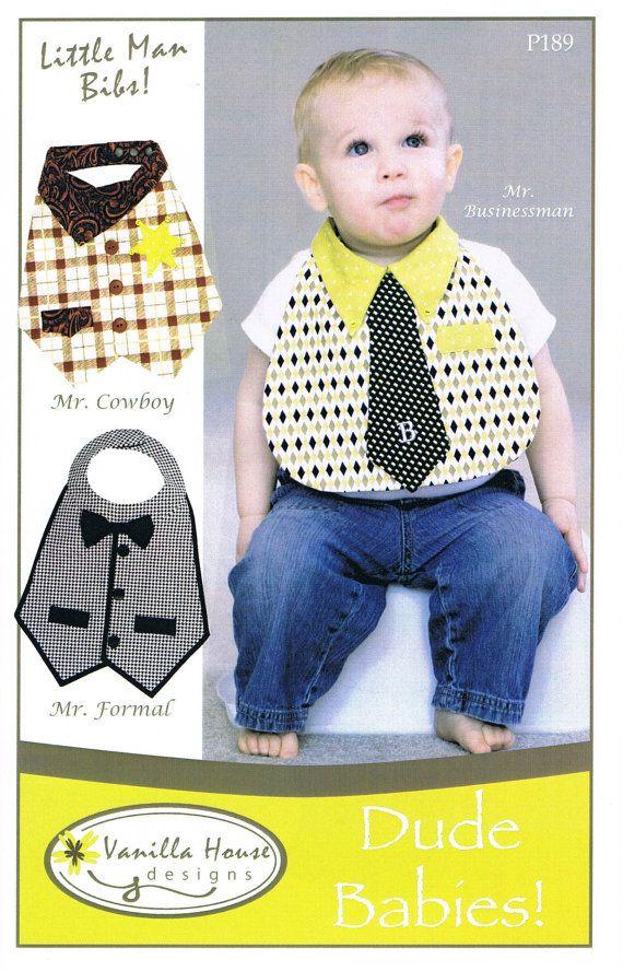 Vanilla House Little Man Bibs Dude Babies Sewing Patterns