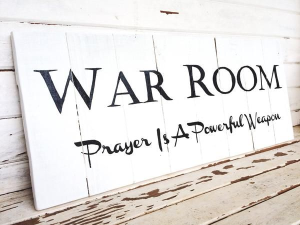 War Room sign; prayer room sign – Little Cedar House