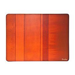 Denby - Pack of 6 orange placemats