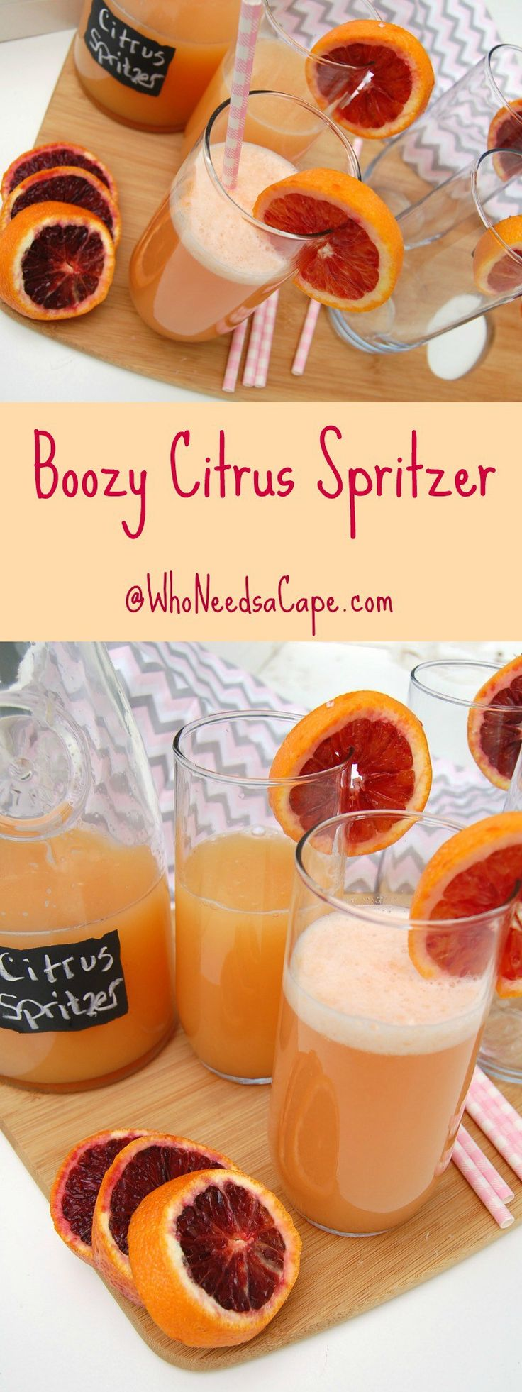 Boozy Citrus Spritzer is a refreshing cocktail to drink. Serve it in a ...