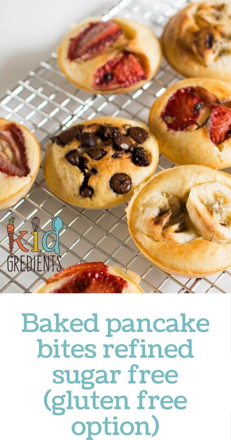 Fantastic baked pancakes with a gluten free option. Refined sugar free.