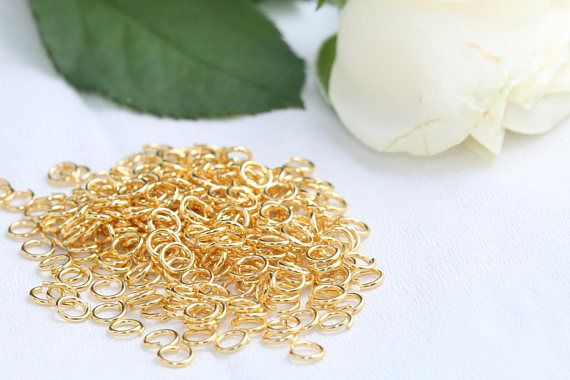 24K Gold Plated Jump Rings5mm Jump RingsConnectorSKU/Z17
