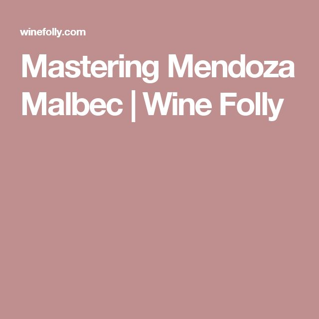 Mastering Mendoza Malbec | Wine Folly