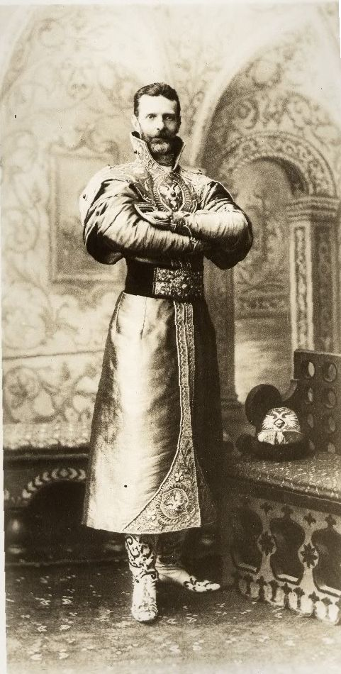 moika-palace:  Grand Duke Sergei Alexandrovich of Russia dressed in a XVII century Russian costume for the Romanov Imperial Ball, April 1903.
