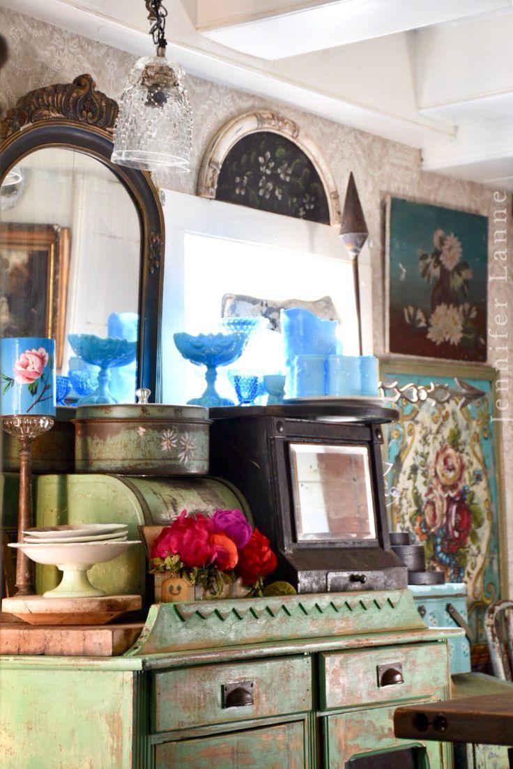 Vintage collection Kitchen  Jennifer Lanne's home at Devils Hop Farm