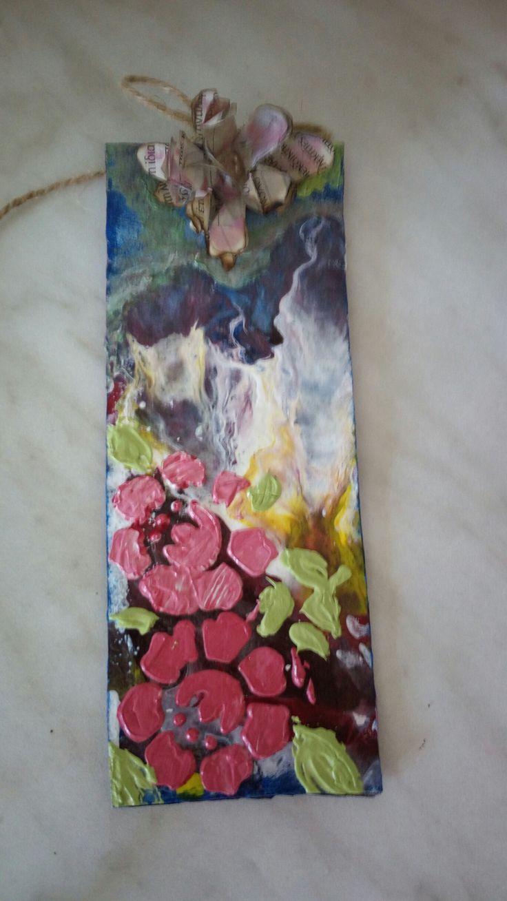 Bookmark ,altered carton, Stella