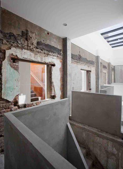 distressed walls + concrete