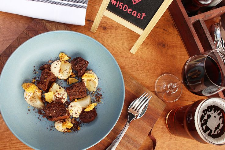 Chocolate Mess 150 EAST bar | kitchen  Beer, Wine, riverside dining