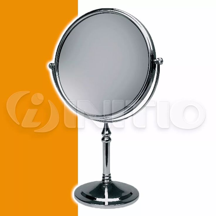 espejo con pie p/ maquillaje con aumento 2 caras baño hydros
