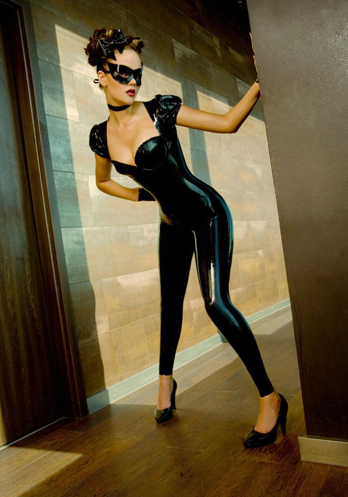 Latex cat outfit