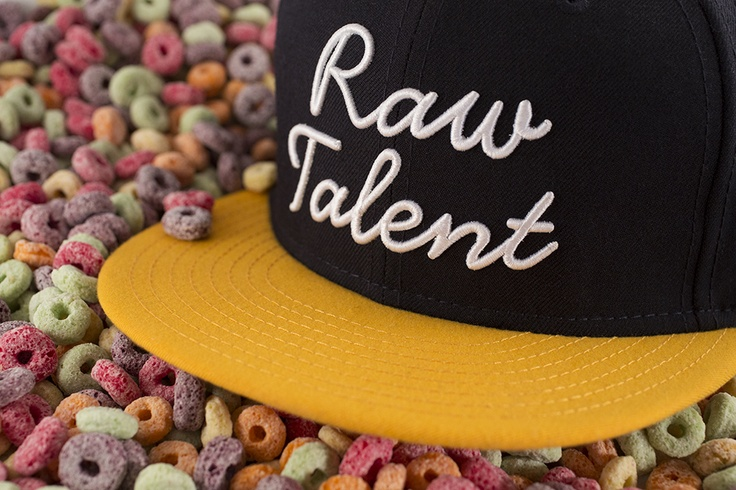 """Raw Talent"" Snapback – Navy / Yellow 