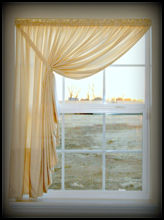 instructions on making swags for curtains